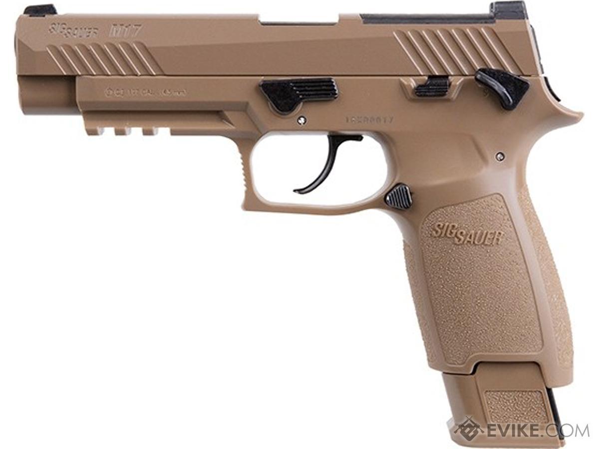SIG SAUER M17 P320 .177 cal GBB CO2 Air Pistol (Color: Coyote Tan)