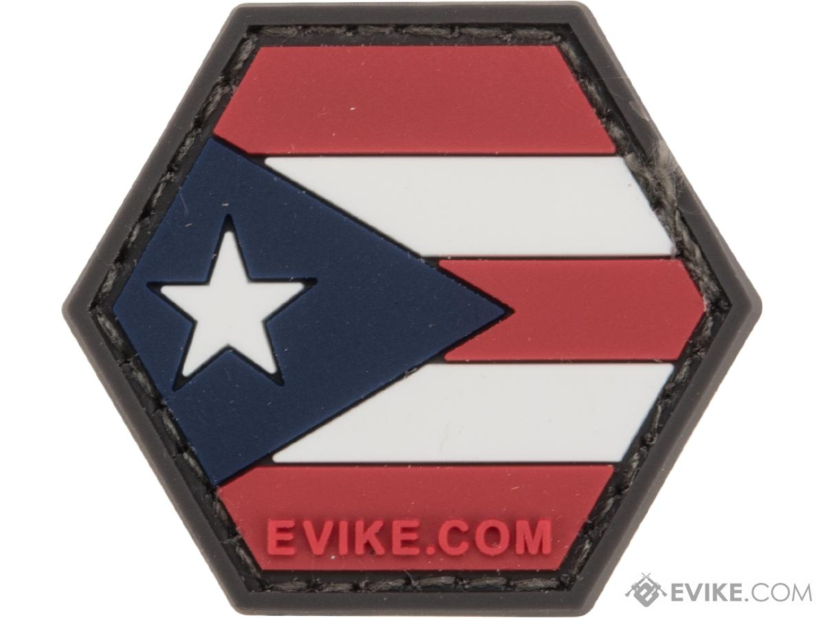 Operator Profile PVC Hex Patch Flag Series (Country: Puerto Rico)