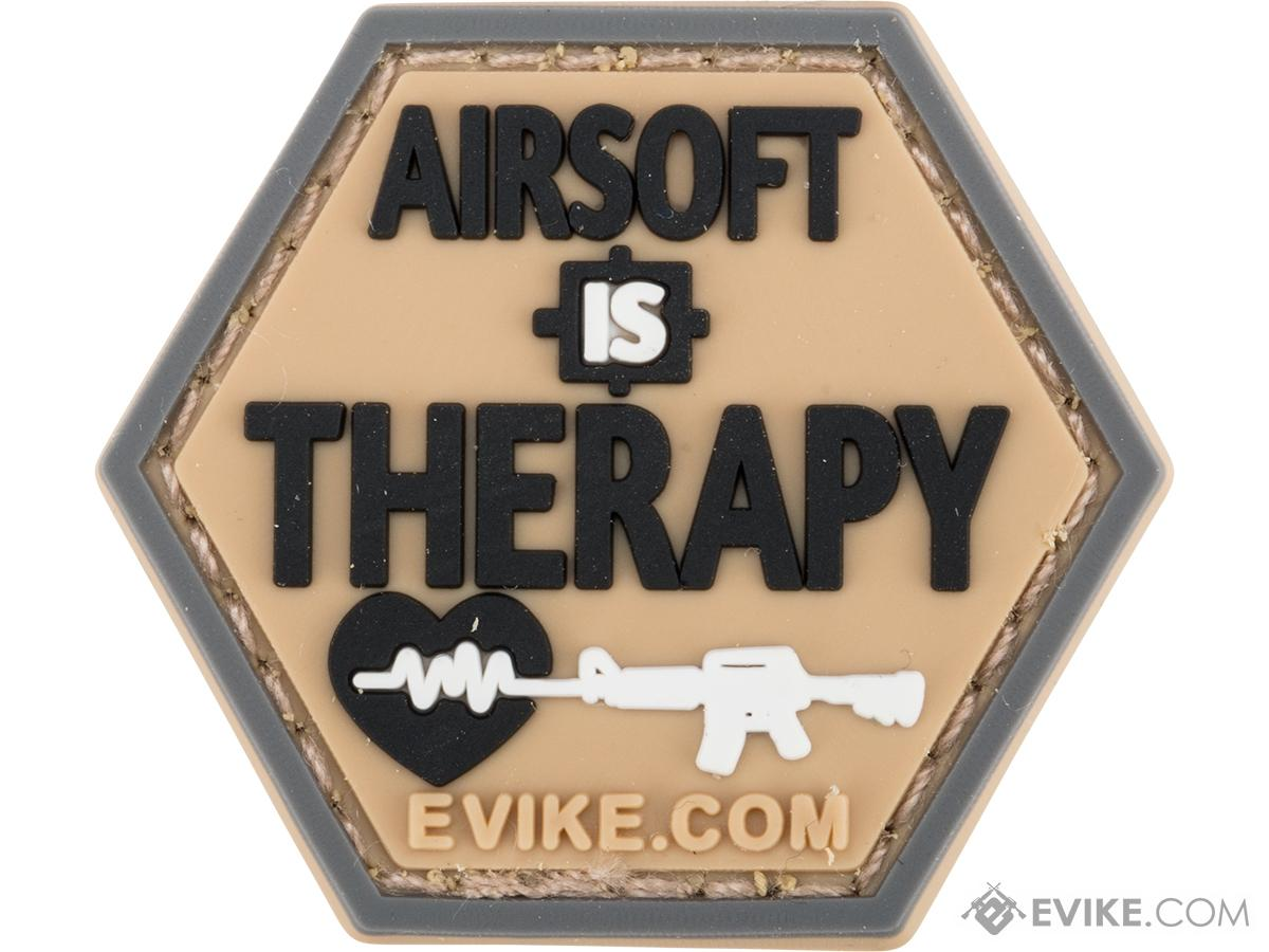 Operator Profile PVC Hex Patch Catchphrase Series (Style: Airsoft is Therapy)