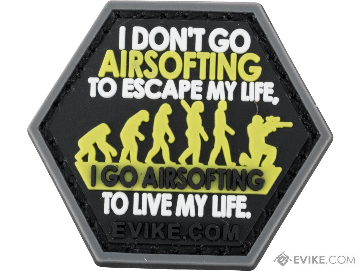 Operator Profile PVC Hex Patch Catchphrase Series (Style: Airsoft Life)