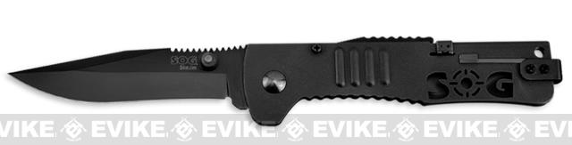 SOG SlimJim Folding Tactical Knife - Black Clip Point