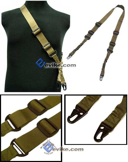 Matrix Military Style Tactical 2-Point Bungee Sling - Coyote Tan