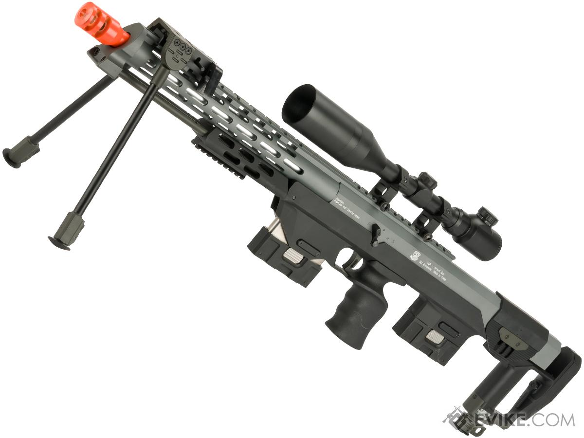 6mmproshop gas powered full metal dsr 1 advanced bullpup sniper rifle color grey