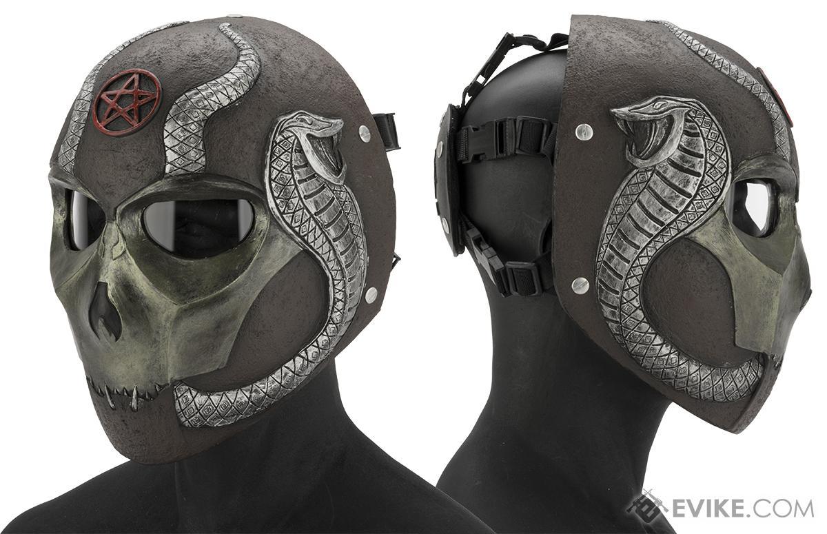 Evike.com R-Custom Fiberglass  Snake Eater Full Face Mask (Color: Copper / Clear Lens)