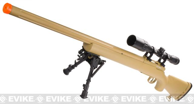Echo1 M28 Bolt Action Airsoft Sniper Rifle w/ Bipod (Color: Tan)