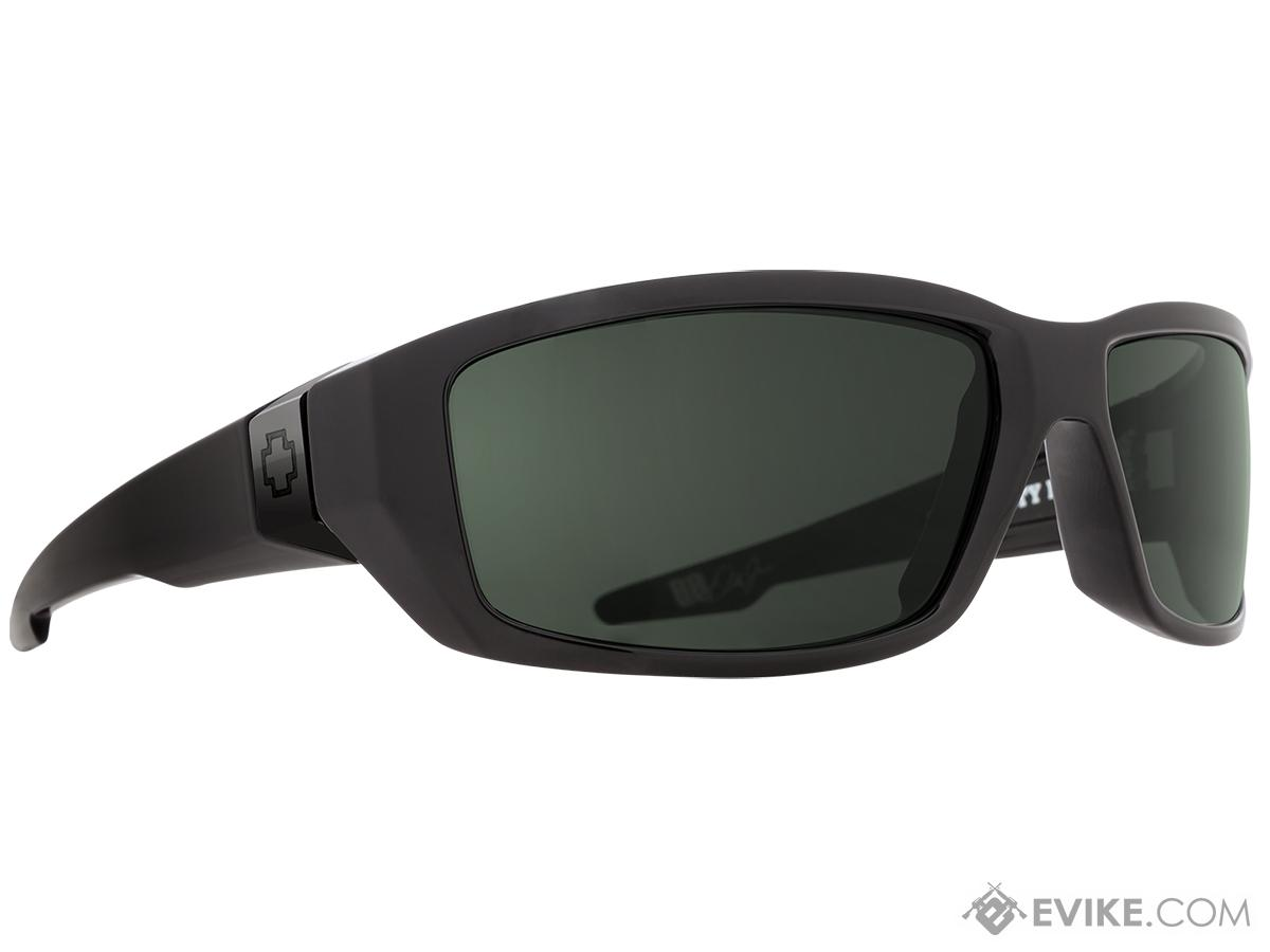 Spy Optic Dirty Mo Sunglasses (Color: Black Frame / HD Plus Gray Green Lens)