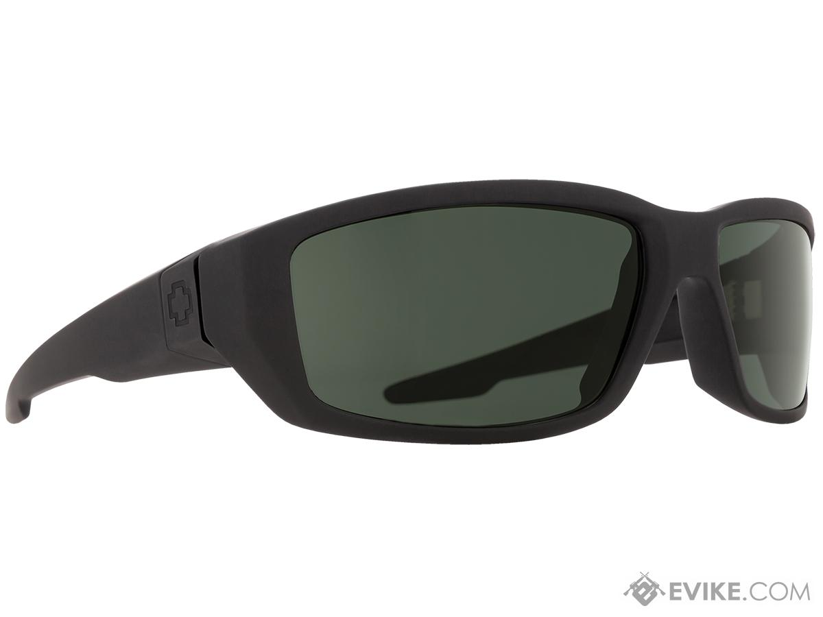 Spy Optic Dirty Mo Sunglasses (Color: Matte Black Frame / HD Plus Gray Green Lens)