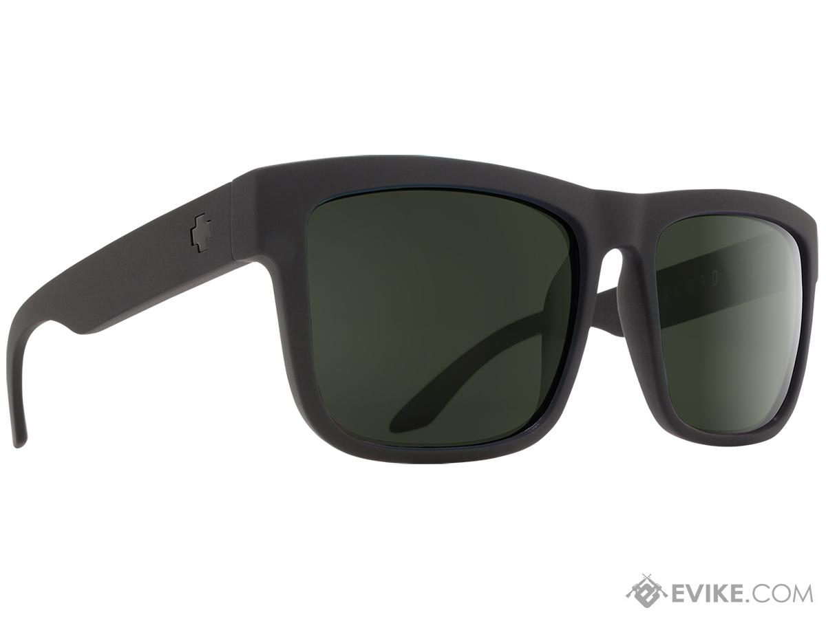 Spy Optic Discord Sunglasses (Color: Matte Black Frame / HD Plus Gray Green Lens)