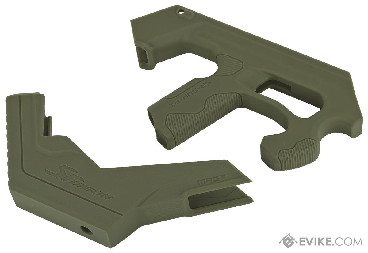 SRU SCAR-L 3D Printer Bullpup Carbine Kit for WE-Tech Mk16 / SCAR-L Gas Blowback Airsoft Rifles (Color: OD Green)