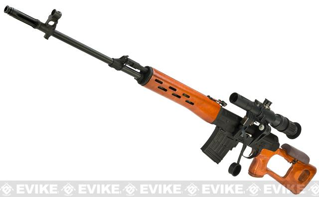 Matrix CYMA AK SVD Airsoft AEG Sniper Rifle by CYMA - Metal Receiver / Real Wood (Package: Gun Only)