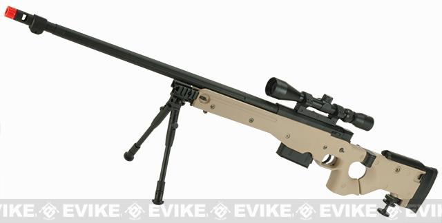 WELL G96 Gas Powered Full Size Airsoft Sniper Rifle with Scope (Color: Desert - Package A)