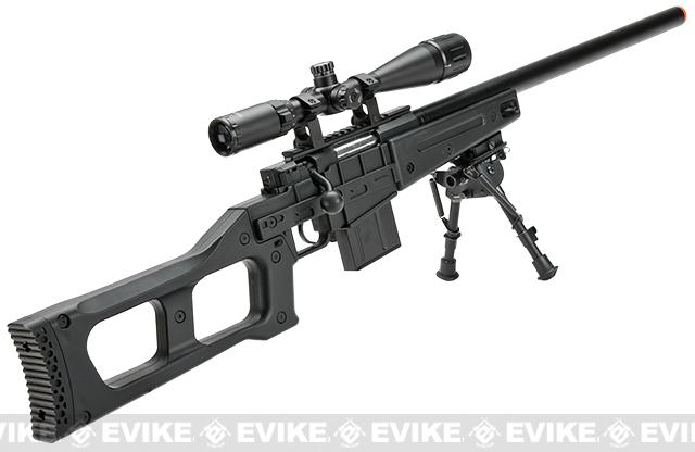 Well Mb4408a Bolt Action Airsoft Sniper Rifle Black Airsoft Guns
