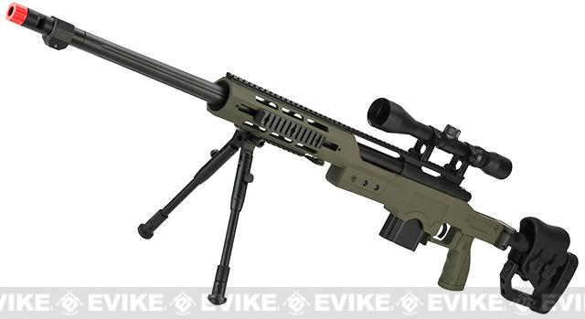 WELL MB4411D Bolt Action Airsoft Sniper Rifle (Color: OD Green - Package C)