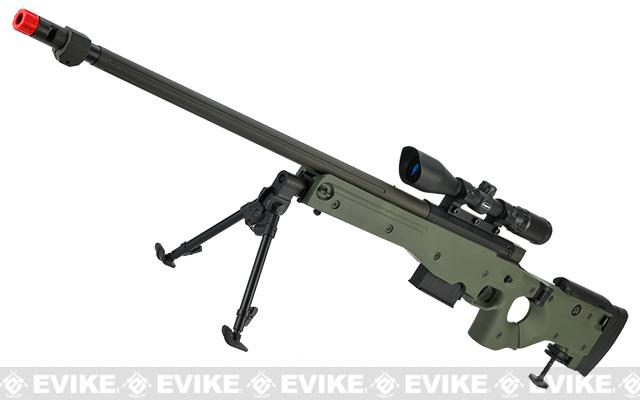AW338 Airsoft Bolt Action Heavy Weight Sniper Rifle by UFC (Configuration: OD Green / 500 FPS Upgrade)