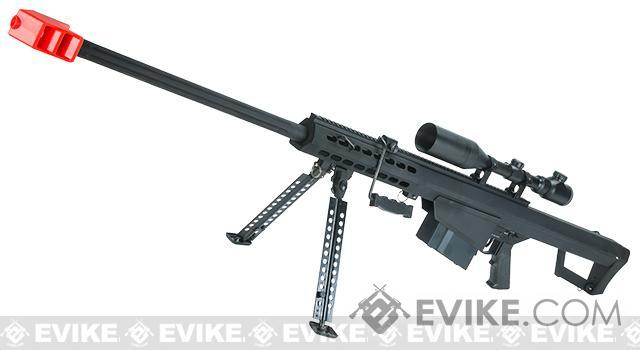 Snow Wolf Custom Long Range Airsoft AEG Sniper Rifle (V.2 Gearbox)(Package: Black / Long Barrel / No Scope)