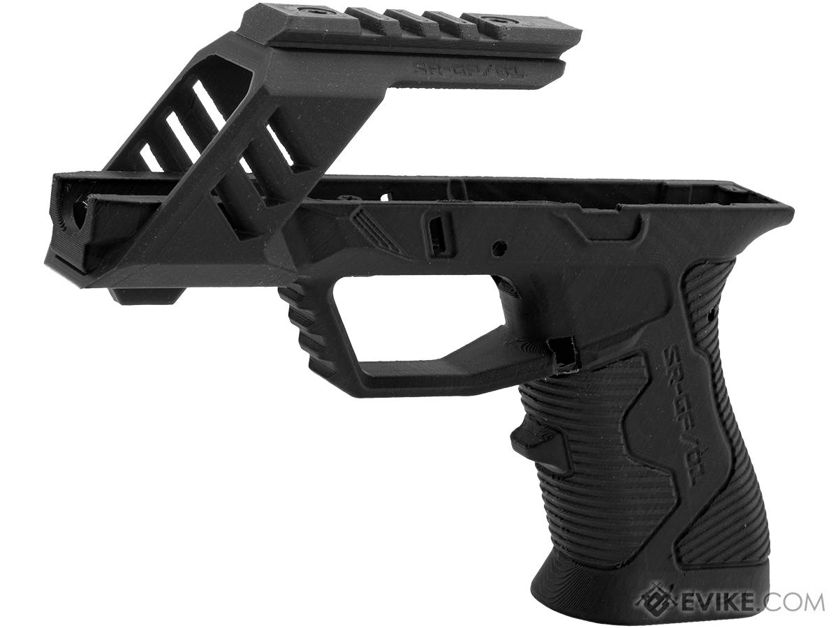 SRU 3D Printed Frame for ISSC M22, SAI BLU, Lonewolf, & Compatible Airsoft Gas Blowback Pistols (Color: Black)