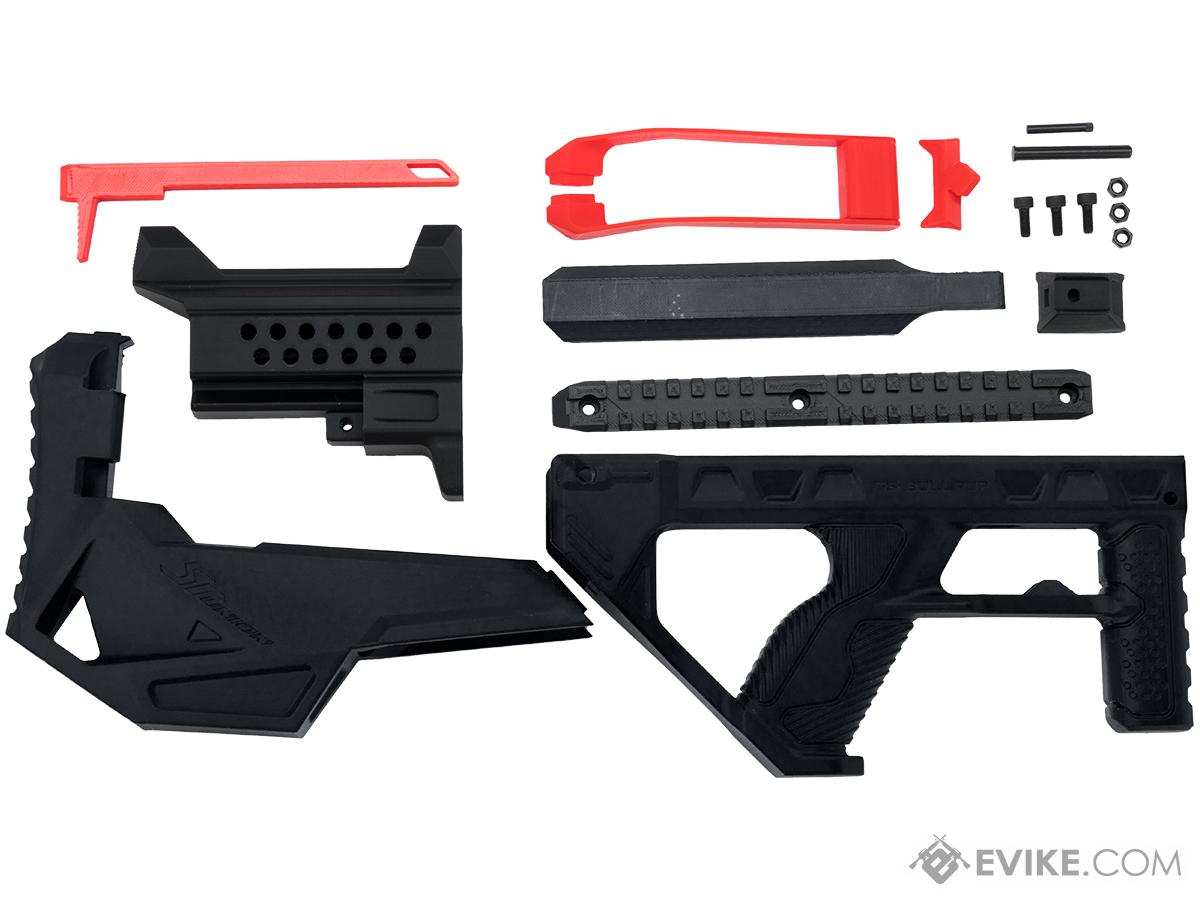 SRU 3D Printed Bullpup Conversion kit for GHK G5  Gas Blowback Rifle (Color: Black)