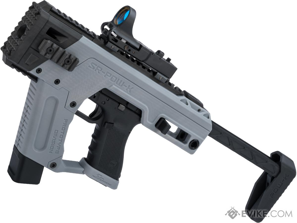 SRU PDW Carbine Kit for 17 Style Airsoft Pistols (Color: Airforce Grey /  Elite Force GLOCK 17)