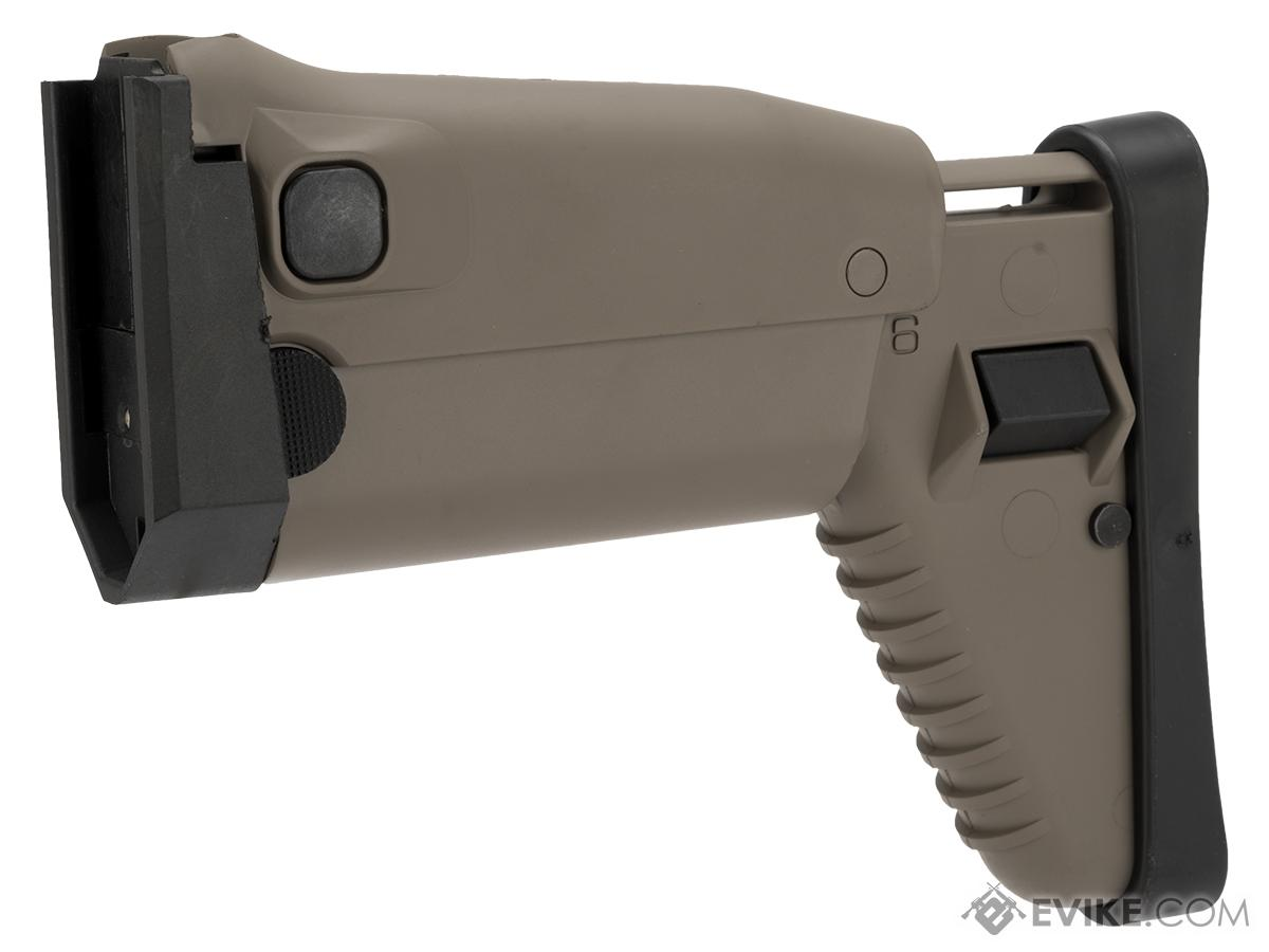 Complete Side Folding Retractable Stock for SCAR Series Airsoft AEG (Color: Tan)