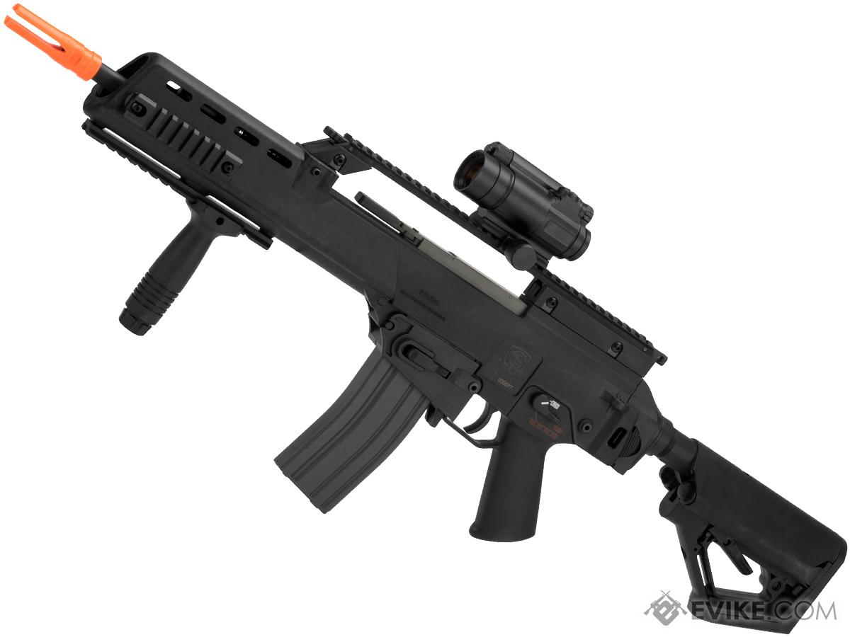 Evike Custom Icarus  EBB Airsoft AEG with CTS Stock (Color: Black)