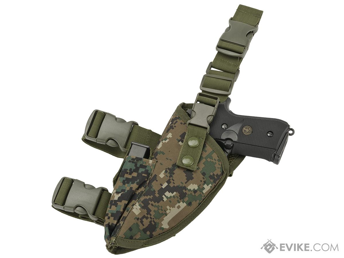 Matrix Deluxe Tactical Thigh Holster (Color: Digital Woodland / Left)