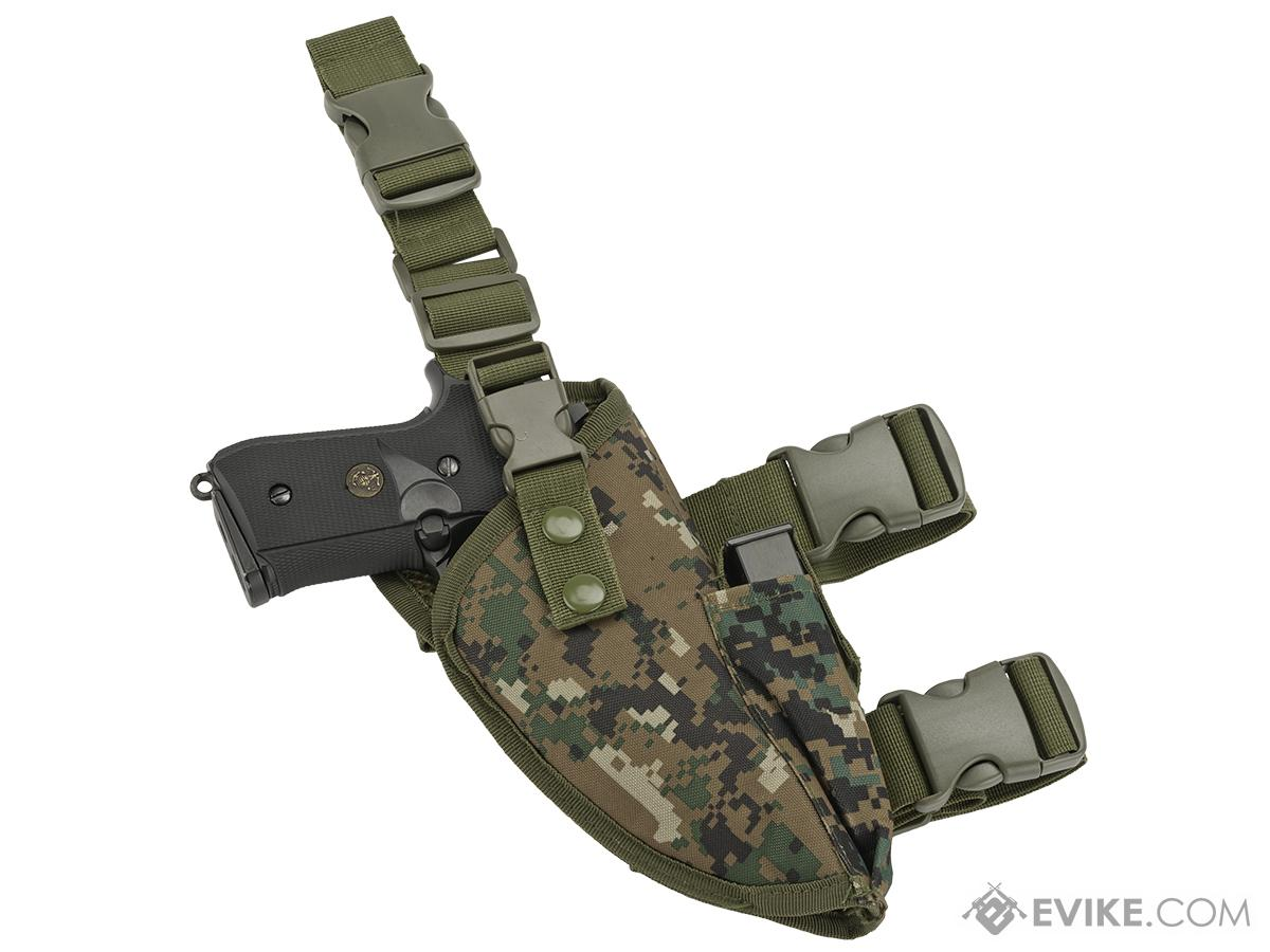 Matrix Deluxe Tactical Thigh Holster (Color: Digital Woodland / Right)