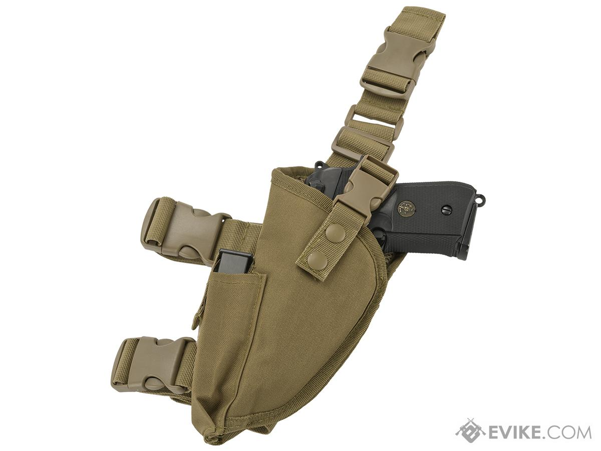 Matrix Deluxe Tactical Thigh Holster (Color: Tan / Left)