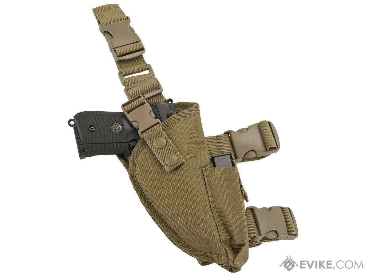 Matrix Deluxe Tactical Thigh Holster - Right Leg / Tan