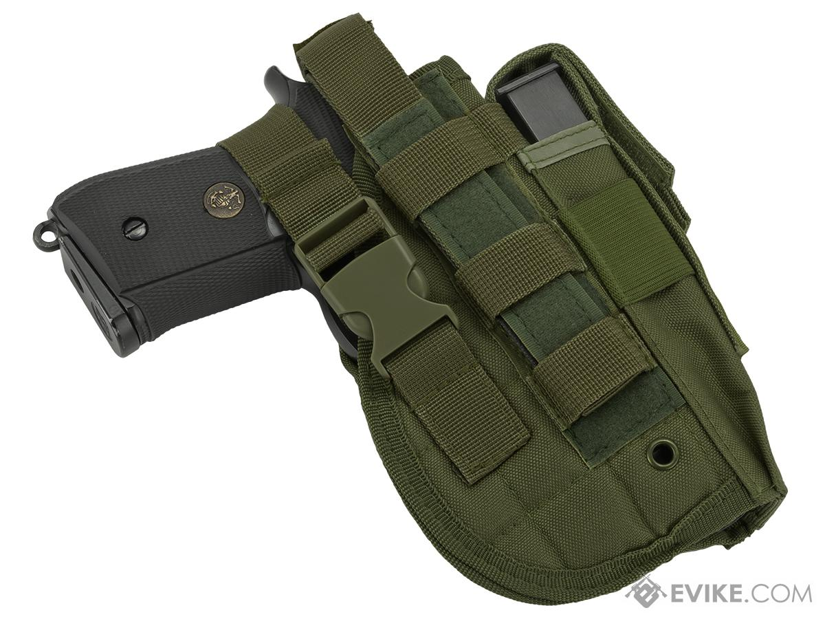 Matrix ST24-2 MOLLE Holster for Airsoft Pistols Right - OD Green