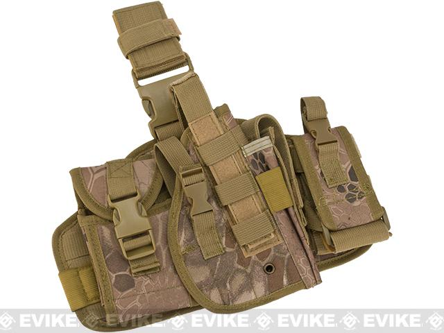 Matrix Drop Leg MOLLE Platform w/ Holster and Pouch Set (Color: Desert Serpent)