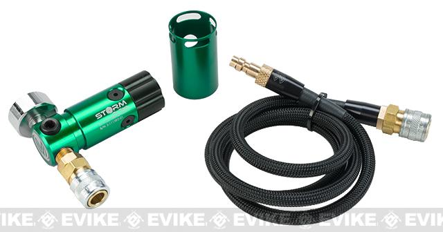 Wolverine Airsoft Storm HPA On-Tank Regulator (Color: with Remote Line / Green)