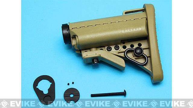 G&P Stubby Retractable Stock Complete Set for M4 Series Airsoft AEG (Color: Sand)