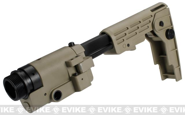 Avengers Retractable Folding Stock for M4 / M16 Series Airsoft AEG Rifles (Color: Tan)