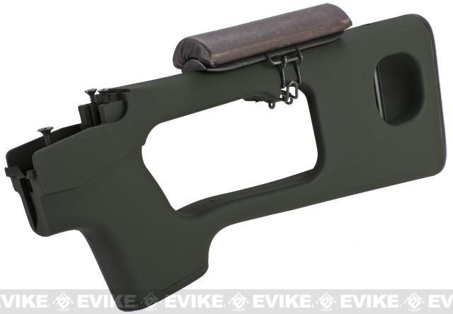 AIM Top Polymer Stock w/ Cheek Rest for SVD Series Airsoft Sniper Rifles - OD Green