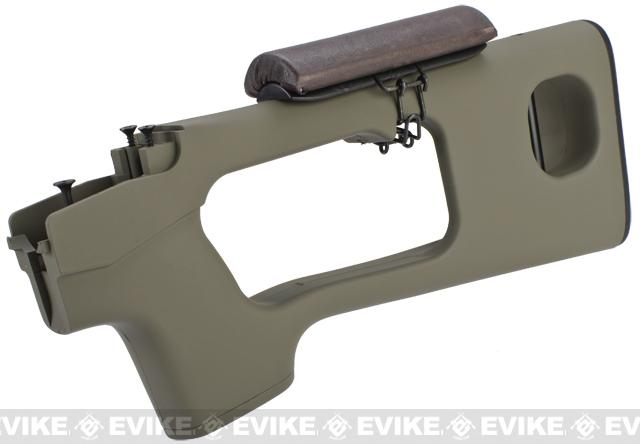 AIM Top Polymer Stock w/ Cheek Rest for SVD Series Airsoft Sniper Rifles - Tan