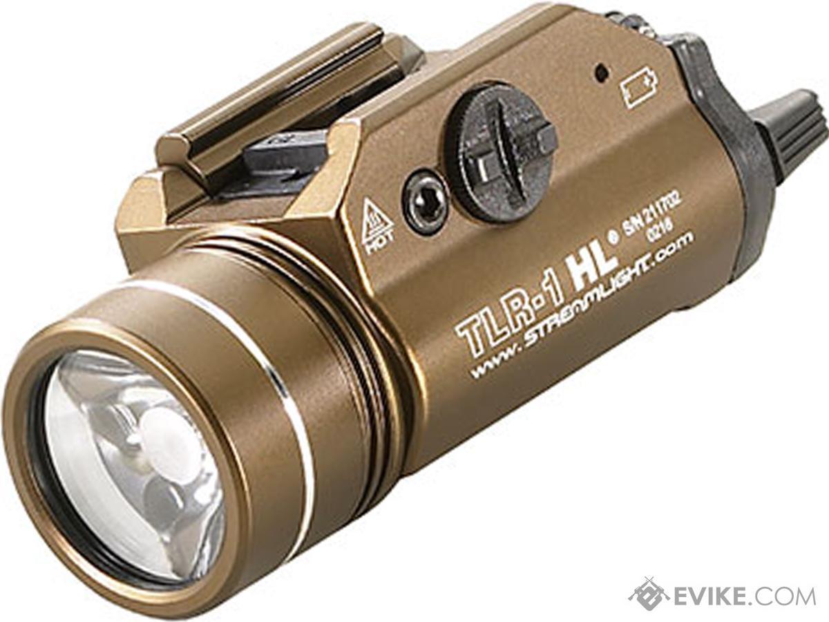 Streamlight TLR-1-HL 1000 Lumen C4 LED Rail Mounted Weapon Light (Color: Flat Dark Earth)
