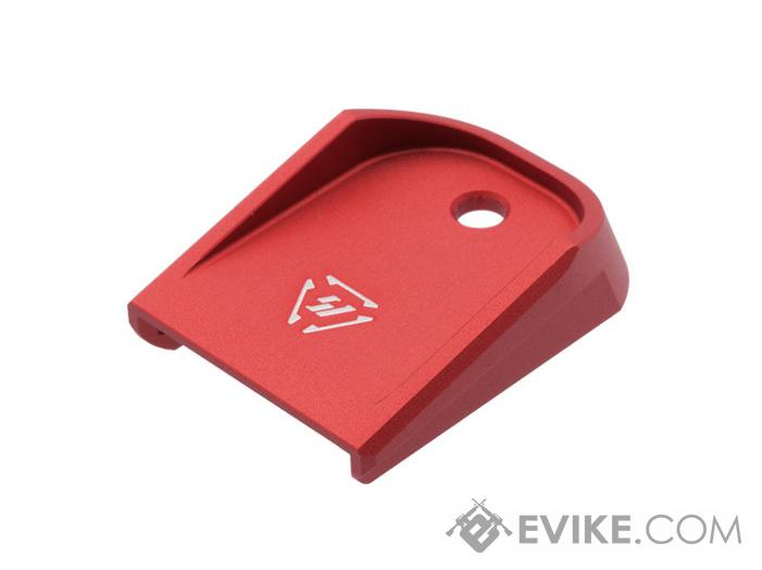 Strike Industries Aluminum Magazine Base Plate for Glock Pistols (Color: Red)