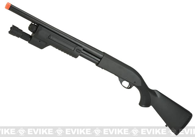 Snow Wolf Full Metal Pump Action Airsoft Shotgun (Version: CQB Full Stock with Weapon Light)