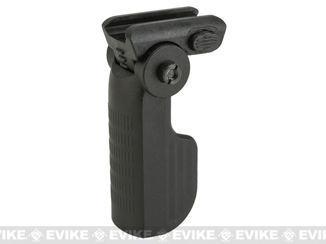 Tippmann Airsoft Folding Vertical Grip - Black