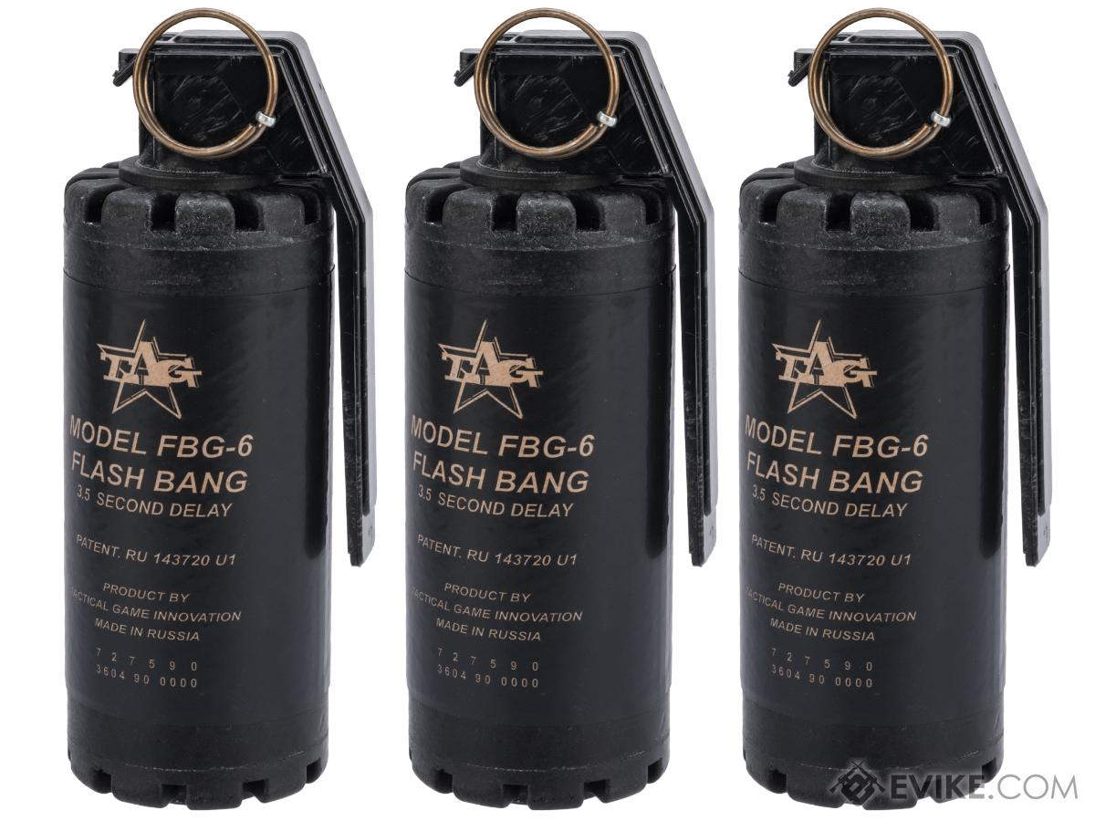TAGinn FBG-6 Airsoft Sound Hand Grenade (Quantity: Set of 3)