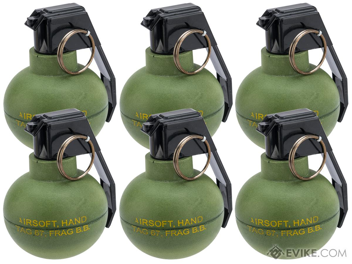 TAGinn TAG-67 Airsoft Pyrotechnic Hand Grenade (Quantity: Set of 6)