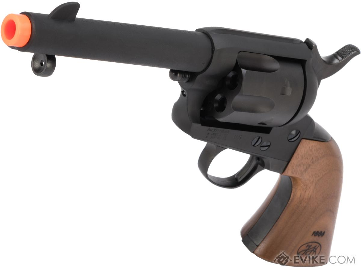 Tanaka Licensed Colt Single Action Army .45 Gas Powered Revolver (Model: 4 Barrel / Matte Black & Wood)