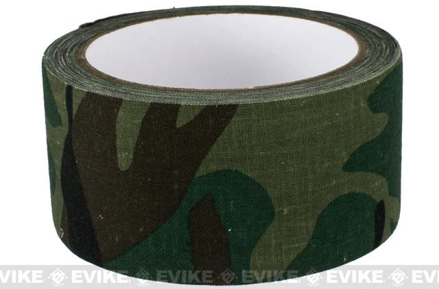 Phantom Gear 2 x 390 Camouflage Fabric Wrap / Gear Silencer - Woodland Camo