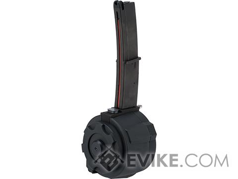 TAPP Airsoft HPA Tapped Flashmag Winding Drum Magazine for Gas Powered Airsoft Guns (Model: KWA MP7 / Long)