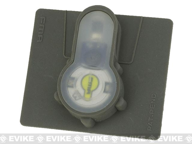 FMA Tactical IFF LED S-Lite Light Patch (Color: White Strobe/Foliage Green Case)