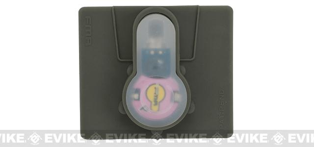 FMA Tactical IFF LED S-Lite Light Patch (Color: Pink Strobe/Foliage Green Case)