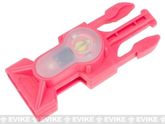 FMA S-Lite IFF Strobe LED Buckle - Pink Buckle / Red Strobe