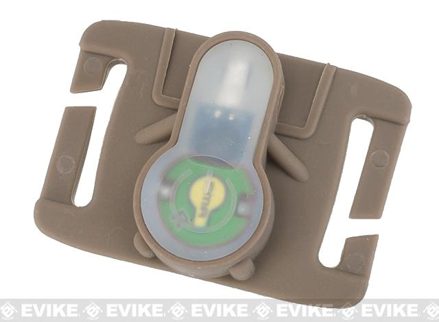FMA S-Lite Horizontral IFF Strobe LED for MOLLE - Dark Earth Buckle / Green Strobe