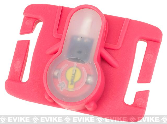 FMA S-Lite Horizontral IFF Strobe LED for MOLLE - Pink Buckle / Red Strobe
