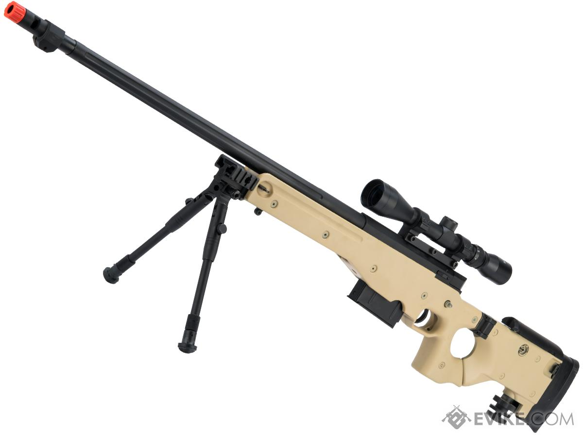 WELL G96 Gas Powered Full Size Airsoft Sniper Rifle with Scope (Color: Desert Tan)
